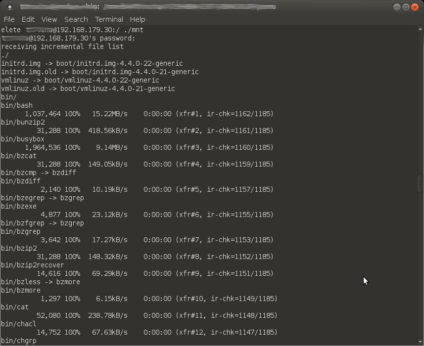 rsync-output