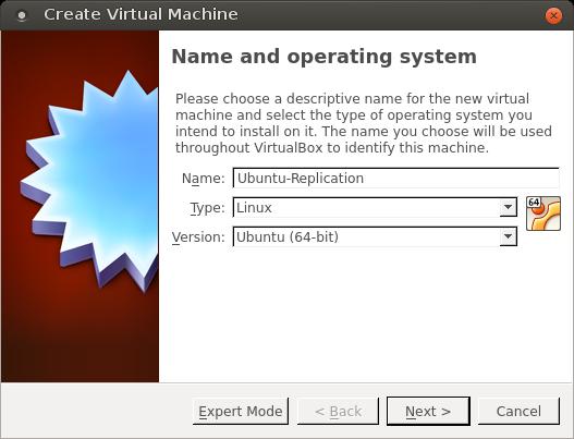 VirtualBox - creation